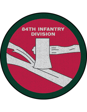 84th Infantry Division Patch on Red Rug