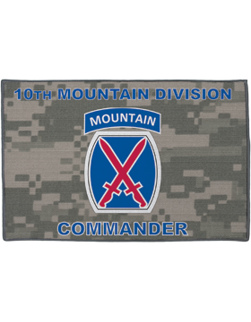 10th Mountain Division, Commander on Camo Rug