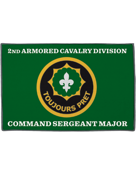 2nd Armored Cavalry Division, Command Sergeant Major on Green Rug