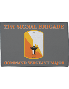 21st Signal Brigade, Command Sergeant Major on Gray Rug