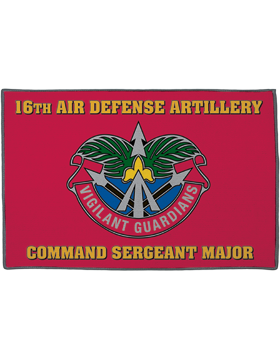 16th Air Defense Artillery, Command Sergeant Major on Red Rug