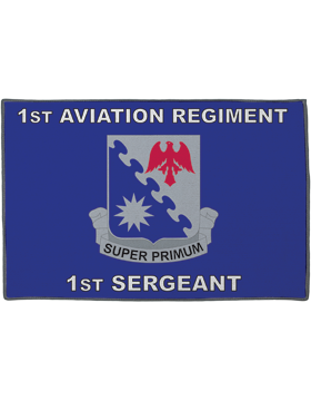 1st Aviation Regiment, 1st Sergeant on Blue Rug