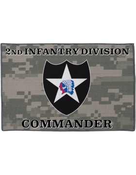 2nd Infantry Division, Commander on Camo Rug