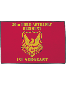 39th Field Artillery Regiment, 1st Sergeant on Red Rug