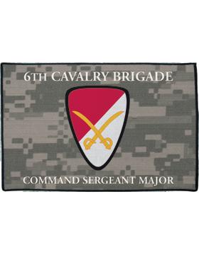 6th Cavalry Brigade, Command Sergeant Major on Camo Rug
