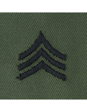 Subdued Sew-on Rank S-105 Sergeant (E-5)