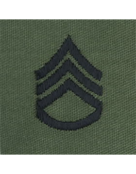 Subdued Sew-on Rank S-106 Staff Sergeant (E-6)