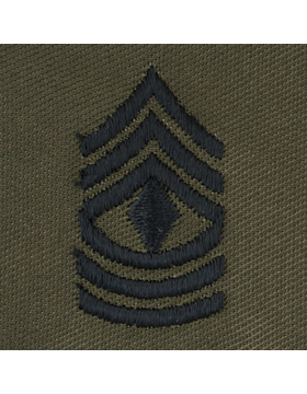 Subdued Sew-on Rank S-109 First Sergeant (E-8)