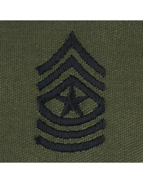Subdued Sew-on Rank S-110 Sergeant Major (E-9)