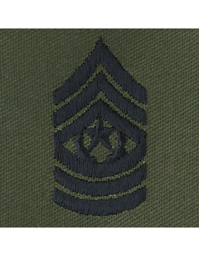 Subdued Sew-on Rank S-111 Command Sergeant Major (E-9)