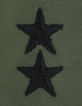 Subdued Sew-on Rank S-123 Point to Center Major General