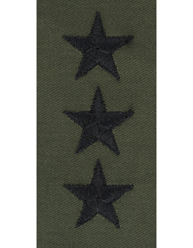 Subdued Sew-on Rank S-124-C Point to Center Lieutenant General