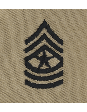 Desert Sew-on SD-110 Sergeant Major (E-9)