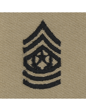 Desert Sew-on SD-111 Command Sergeant Major (E-9)