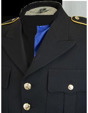 Bib Scarf (SF-104-11) Black and Royal Blue Polyester