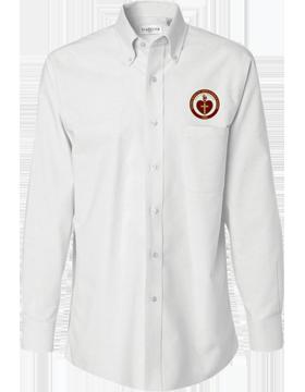 Sacred Heart Emblem Van Heusen Long Sleeve White Shirt