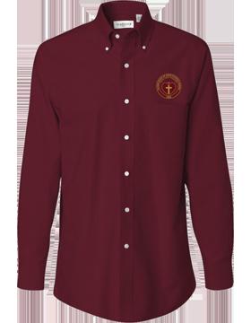 Sacred Heart Emblem Van Heusen Long Sleeve Cayenne Shirt