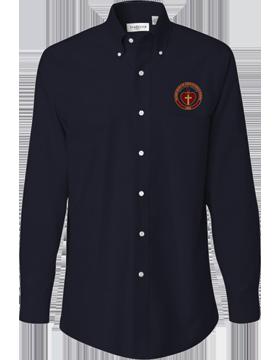Sacred Heart Emblem Van Heusen Long Sleeve Navy Shirt