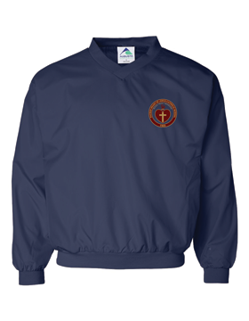 Sacred Heart Emblem Micro Poly Navy Lined Windshirt 3415