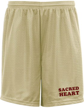 Sacred Heart Vegas Gold Pro Mesh Game Shorts with 7