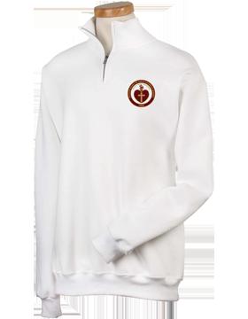 Sacred Heart Emblem White Quarter-Zip Sweatshirt 995M