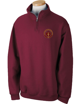 Sacred Heart Emblem Maroon Quarter-Zip Sweatshirt 995M