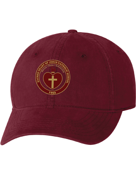 Sacred Heart Emblem Maroon Unstructured Cap