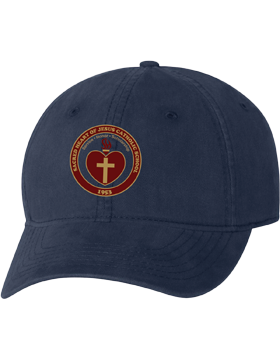 Sacred Heart Emblem Navy Unstructured Cap