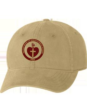 Sacred Heart Emblem Khaki Unstructured Cap