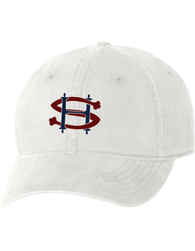 Sacred Heart SH White Unstructured Cap