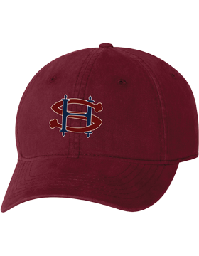 Sacred Heart SH Maroon Unstructured Cap