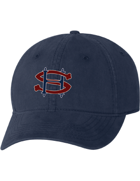 Sacred Heart SH Navy Unstructured Cap