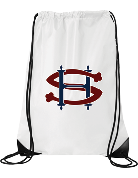 Sacred Heart SH (Burgundy-Navy) White Drawstring Pack 8886