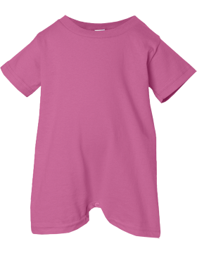Rabbit Skins Infant Jersey T-Shirt Romper 4426 Raspberry