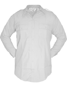 Police Shirt (SH-110ML/A01) White 14-14.5-32/33 100% Poly Long Sleeve