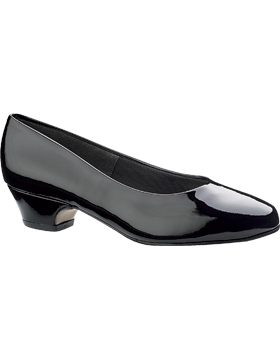 Women's Black Shiny Low Dress Pump