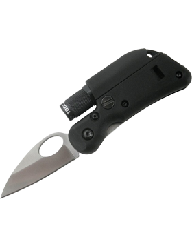 Multi-Functional Black Mini Knife with Flashlight SL1M
