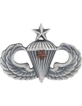 Senior Parachutist with 1 Combat Star