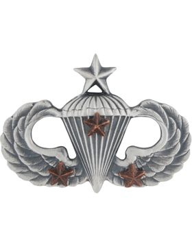 Senior Parachutist with 3 Combat Star