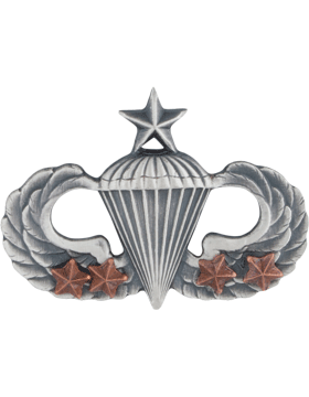 Senior Parachutist with 4 Combat Star