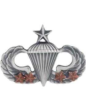 Senior Parachutist with 4 Combat Star