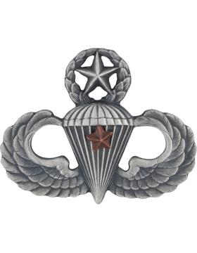 Master Parachutist with 1 Combat Star