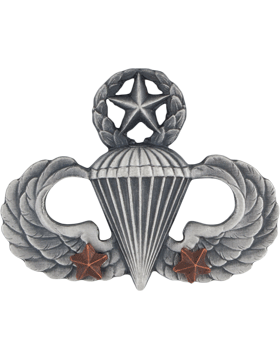 Master Parachutist with 2 Combat Star