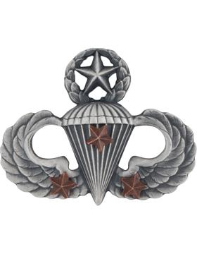 Master Parachutist with 3 Combat Star