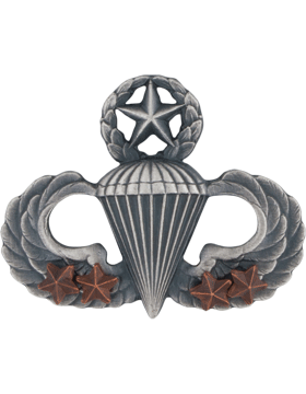 Master Parachutist with 4 Combat Star