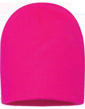 Sportsman 8in Knit Beanie Neon Fuchsia