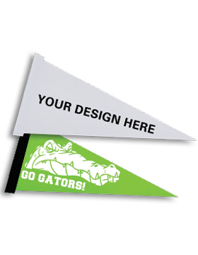 A003 Custom Sublimation Felt Pennant Large