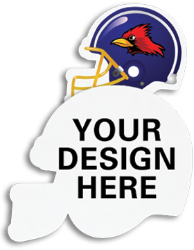 A011 Custom Sublimation Felt Football Helmet Emblem