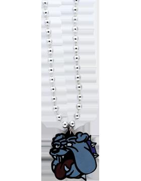 SS-BEAD-MAS-BLD Mascot Beaded Necklace Bulldog