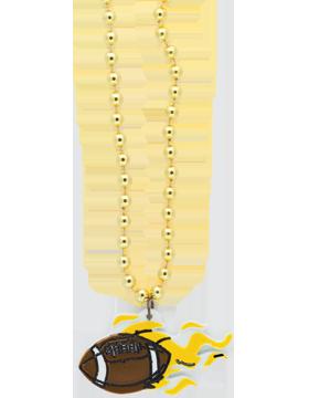 SS-BEAD-MAS-FTB Mascot Beaded Necklace Football